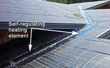 RoofHeat Is Rolled Out Over The Area To Be Heated And Uses Resistance To  Heat The Roof Mass.